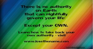 Take back your OWN authority