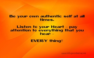 Be your own authentic self