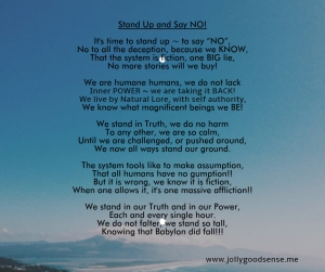 Stand Up and Say NO!